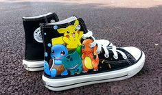 Anime shoes Pokemon handpainted shoes by TMaye on Etsy