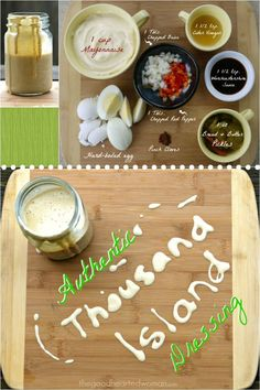 Authentic Thousand Island Dressing is a sweet tangy creamy delicious concoction of fresh ingredients that include onions sweet pepper and even a hard-boiled egg! Make it once and you'll never want store-bought again. Hard Boiled, Boiled Eggs, Dressing Recipe, Salad Dressing, Amazing Vegetarian Recipes, Gluten Free Sauces, Thousand Island Dressing, Fish Salad, Recipe Filing