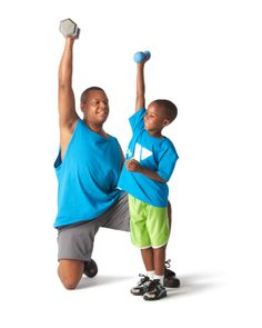 What better way to get and stay in shape than to exercise with your kids? Good for both of you!  #fitness #health #workout