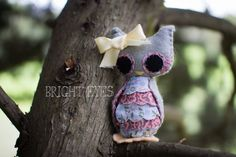 Little Miss Plush Owl by Brighteyesshop on Etsy Bright Eyes, Little Miss, Owl, Plush, Christmas Ornaments, Trending Outfits, Holiday Decor, Unique Jewelry, Handmade Gifts