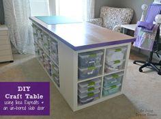 DIY Tabela Craft - PLUS espaço de armazenamento
