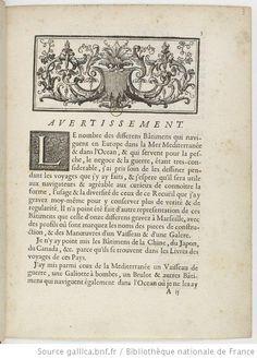Recüeil des vuës de tous les differens bastimens de la mer Mediterranée et de l'Océan, avec leurs noms et usages / par P. J. Gueroult du Pas...