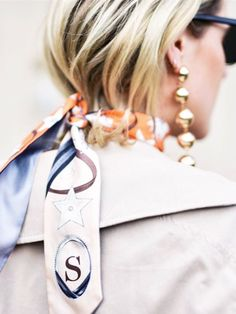 Silky scarf from The Best Fashion Instagram Pictures of the Week via @WhoWhatWearUK