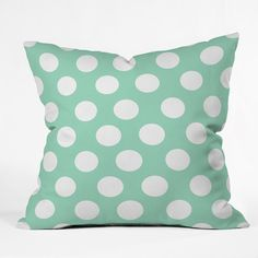 DENY Designs Home Accessories | Allyson Johnson Mintiest Polka Dots Throw Pillow