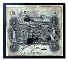 Dundee Bank Note early 1800s Online Scrapbook, Dundee, My Heritage, Soviet Union, Family History, Scotland, The Past, Note, Genealogy