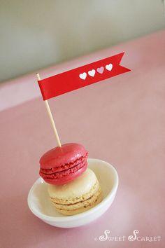 Yum, Valentine's Day macarons