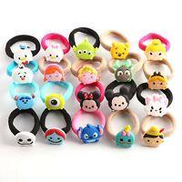 1xCute Kids Girl Children Mickey Minnie Frozen Tsum Tsum Cartoon Hair Band Rope