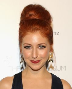 Morgan Smith Goodwin Beehive - Morgan Smith Goodwin turned heads with her towering beehive at the Art of Elysium's Heaven Gala. Prom Updo, Wendys Girl, Morgan Smith, Prom Images, Sweet Charity, Mane Event, Simply Red, Dark Blonde, Ginger Hair