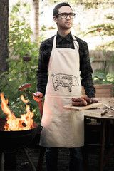 This pork cuts apron is a great gift for any father, friend or avid barbecuer and griller. The apron depicts