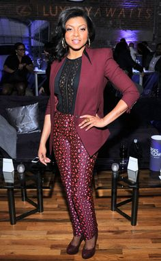 Well-Suited from Taraji P. Henson's Best Looks  In Kenzo pants and a Helmut Lang blazer.