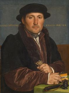 Hans Holbein the Younger, 1497 Augsburg - 1543 London Portrait of a Young Merchant aged 28, dated 1541 - Kunsthistorisches Museum Wien, Gemäldegalerie - Vienna