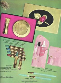 Avon Representative catalog Campaign (C)16-1958, page 28, this is a dream page, look at the gift box. Delightful ~~
