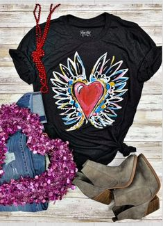 Very comfortable soft ladies t-shirt. True to size. 50% poly 25% cotton 25 % rayon Fly Drawing, Graphic Tees, Graphic Sweatshirt, Boho Boutique, Statement Tees, Red Cardigan, Denim Shop, Fashion Advice, Shirt Shop