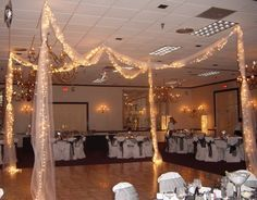 elegant black and white party decorations - Google Search