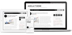 Adelle Theme: FREE Theme for hosted WP blogs. If you are able to tweek these themes for WP this is a great one for you!