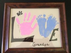 ideas craft gifts for grandparents fathers day Diy Father's Day Gifts, Father's Day Diy, Craft Gifts, Daddy Gifts, Grandpa Gifts, Birthday Presents For Grandma, Kids Presents, Daddy Day, Grandparent Gifts