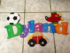 nombres en goma eva - Buscar con Google Letters For Kids, Name Plaques, Foam Crafts, Baby Party, Art Decor, Home Decor, Baby Room, Baby Shower Gifts, Names