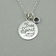 Free Spirit Necklace  sterling silver birthstone by TheZenMuse