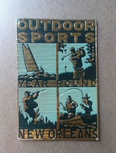 New Orleans Year Round Outdoor Sports Foil Cinderellas Poster stamp in Stamps, Specialty Philately, Cinderellas | eBay