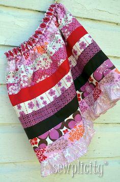 Sewplicity: TUTORIAL: Ruffled Jelly Roll Skirt