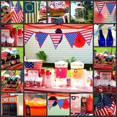 Red White & Blue Memorial Day Party Party Ideas | Photo 1 of 27 | Catch My Party