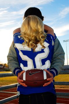 Senior boy football photos senior pictures with girlfriend Photo credit: amber spencer