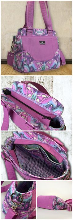 Epiphany Purse sewing pattern. I love all the details on this handbag sewing pattern from ChrisW.