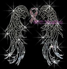 BREAST CANCER ANGEL WINGS RHINESTONE IRON ON TRANSFER | Crafts, Fabric Painting & Decorating, Fabric Transfers | eBay!