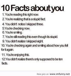 #10 facts about you