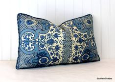 One or Both Sides - ONE Charlotte Moss Digby's Tent Moroccan Blue/Sage/Coral Self Cording