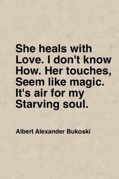 Heals with love.