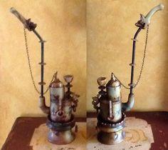 Oriental Vintage Tibetan Silver Jade Handwork Dragon Collectors Pipe