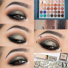 Morphe x Jaclyn Hill Eyeshadow Palette looks Jaclyn Hill Palette, Jacklyn Hill Palette Looks, Jaclyn Hill Eyeshadow Palette, Makeup Palette, Eye Palette, Eye Makeup Steps, Makeup Eye Looks, Mac Makeup, Smokey Eye Makeup