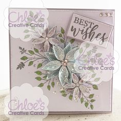Stamps by Chloe - Fabulous Flower Panel - - As Seen on TV - Chloes Creative Cards Wedding Cards Handmade, Handmade Birthday Cards, Greeting Cards Handmade, Flower Birthday Cards, Flower Cards, Birthday Ideas, Chloes Creative Cards, Stamps By Chloe, Cardmaking And Papercraft