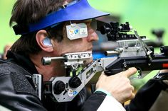 Jason Eales of New Zealand competes in the R5 - Mixed 10m Air Rifle Prone SH2 qualification round on day 6 of the Rio 2016 Paralympic Games at Olympic Shooting Centre on September 13, 2016 in Rio de Janeiro, Brazil.