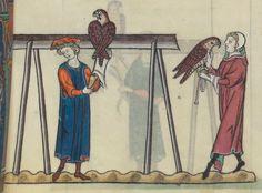 FRÉDÉRIC II , traité de fauconnerie , traduction française, faite à la demande de Jean, sieur de Dampierre et de Saint-Dizier, et de sa fille Isabelle.  Date d'édition :  1201-1300  Français 12400  Folio 150r