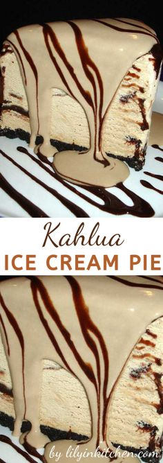 This Kahlua Ice Cream Pie makes me want to throw a party, just so I can serve this to all my guests and watch their jaws drop with OMG! Yogurt Ice Cream, Ice Cream Pies, Ice Cream Party, Ice Cream Recipes, Chocolate Wafer Cookies, Chocolate Wafers, Just Desserts, Dessert Recipes, Desert Recipes