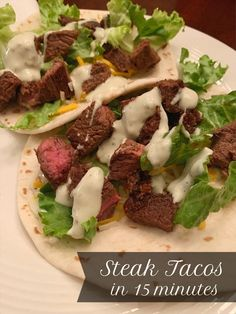 Sirloin Steak Tacos: Dinner in 15 Minutes — Loree Unleashed My favorite meal at Beef O' Brady's is the steak tacos and I've been craving them so thought I would recreate them at home instead. Dinner in 15 minutes! Top Sirloin Steak Recipe, Sirloin Recipes, Sirloin Steaks, Salad Recipes For Dinner, Dinner Salads, Minute Steak Recipes, Taco Dinner, Steak Tacos, Fajita Recipe