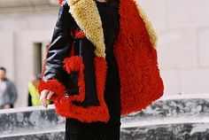 crushing on this red coat right now! Paris Fashion Week AW 2015....Zlata