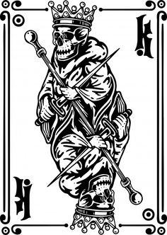 Inner Arm Tattoos, Small Tattoos, Playing Card Tattoos, Playing Cards, Hunter Tattoo, Tattoo Catalog, King Card, Surf Logo, Medusa Tattoo