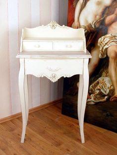 SEKRETÄR IM RETRO LANDHAUSSTIL VINTAGE ANTIK WEISS in Antiquitäten & Kunst, Design & Stil, Ab 2000 | eBay 100€