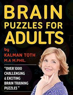 Brain Puzzles for Alzheimer's, Parkinson's & Stroke Patients Calming Activities, Book Activities, Puzzle Books, Puzzle Games, Daily Puzzle, Senior Student, Challenging Puzzles, Picture Puzzles, Best Brains