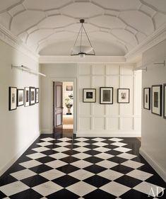 Architectural details in white foyer   By Joshua McHugh architecturaldigest.com
