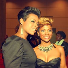 Loving both Fantasia's pompadour and Kandi's spiky hairstyles