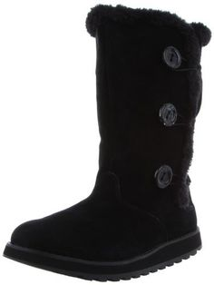 2e8873afb173 Skechers USA Women s Keepsakes - Canoodle Boot - 11 M - Charcoal-Suede