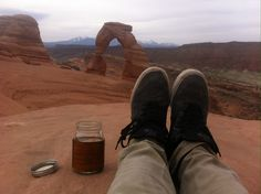 Solo adventure to my favorite spot, made coffee here for a rad couple from France who camped under the arch. It's inspiring how far love for someone and something can take you beyond your comfort zone. Someday I hope to have that until then keep my head up and keep on exploring....side note I've been to Arches 5times and Canyonlands 4times this year Whoowhoo!