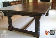 refectory tables | Refectory Style | Handmade Solid Hardwood Pool & Snooker Dining Tables