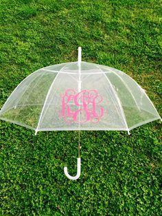 Monogrammed Umbrella Personalized Umbrella by customvinylbydesign