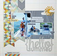 Hello Summer - Scrapbook.com - Suns (whether in paper, embellishment, button, sticker or any other format) add the perfect touch for Summer, water and beach-themed layouts.