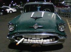 Plenty of cars appear to have faces, but few actually have a toothy grin.